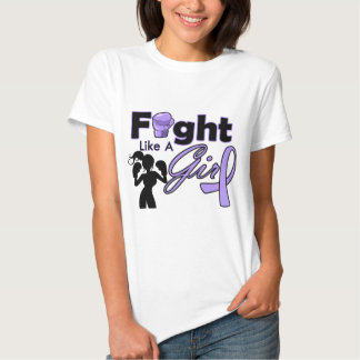 General Cancer Fight Like A Girl Silhouette Tshirts