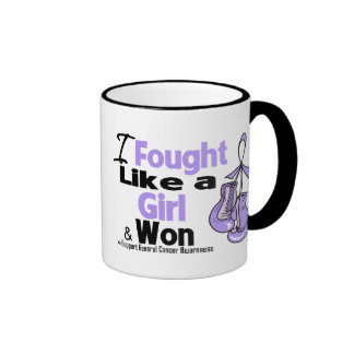 General Cancer I Fought Like a Girl and Won Mugs