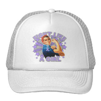 General Cancer Vintage Rosie Fight Like A Girl Cap