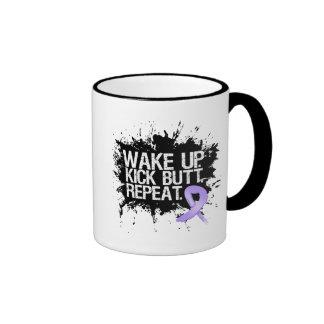 General Cancer Wake Up Kick Butt Repeat Coffee Mug