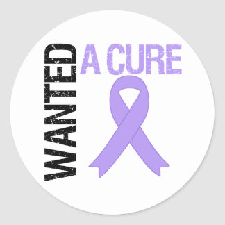 General Cancer Wanted A Cure Round Sticker