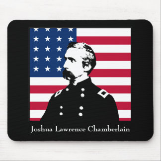 General Chamberlain and the American Flag Mouse Pad