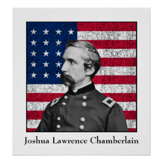 General Chamberlain and The American Flag Posters