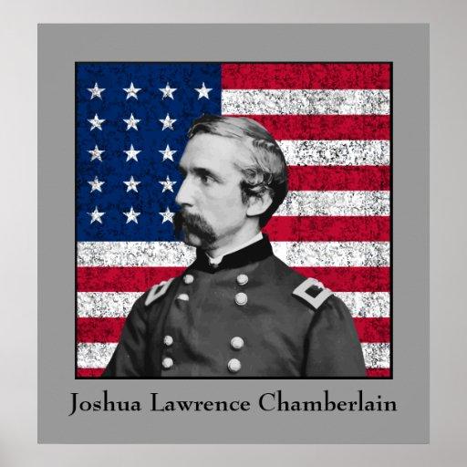 General Chamberlain and The American Flag Print
