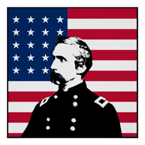 General Chamberlain and The US Flag -- Border Posters