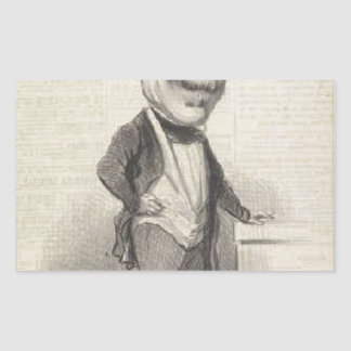 General Changarnier by Honore Daumier Rectangular Sticker