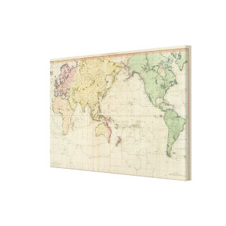 General chart historical map canvas print