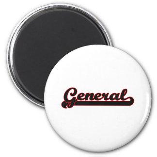 General Classic Job Design 6 Cm Round Magnet