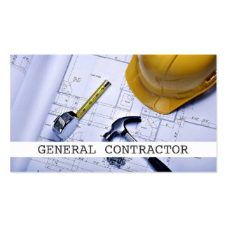 General Contractor Builder Construction Business Business Cards