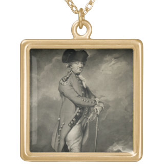 General Cornwallis (1738-1805) engraved by John Jo Gold Plated Necklace