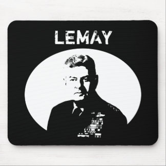General Curtis Lemay -- Black and White Mouse Pad