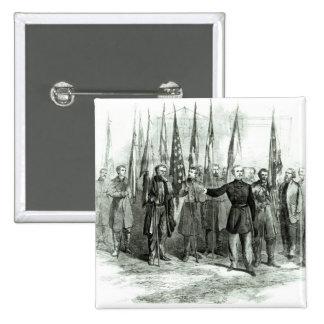 General Custer 15 Cm Square Badge