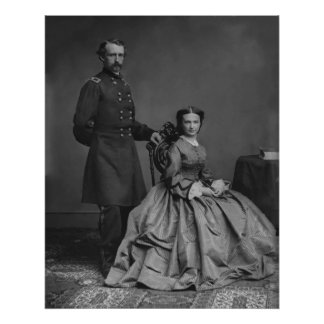 General Custer and His Wife Libbie Poster