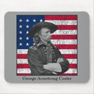 General Custer and The American Flag Mouse Pad