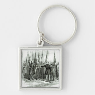 General Custer Silver-Colored Square Key Ring