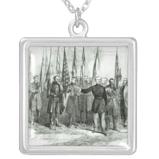 General Custer Square Pendant Necklace