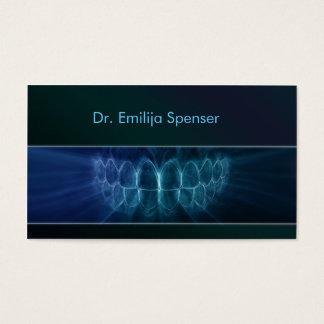 General Dentist Blue Gradient Business Card