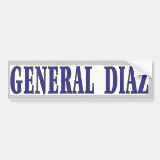 General Diaz Bumper Sticker