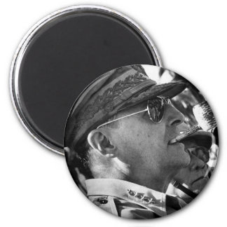 General Douglas MacArthur with Corncob Pipe Magnet