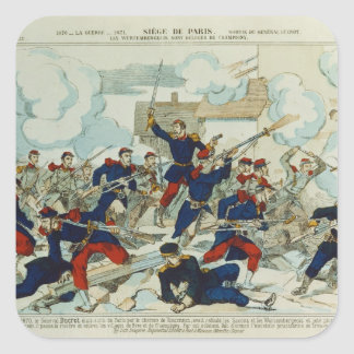 General Ducrot  at the Battle of Champigny Square Sticker