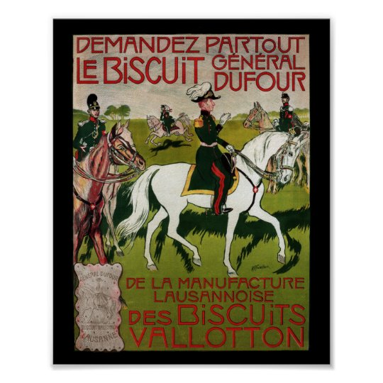 General Dufour Flour le Biscuit 1899 Poster