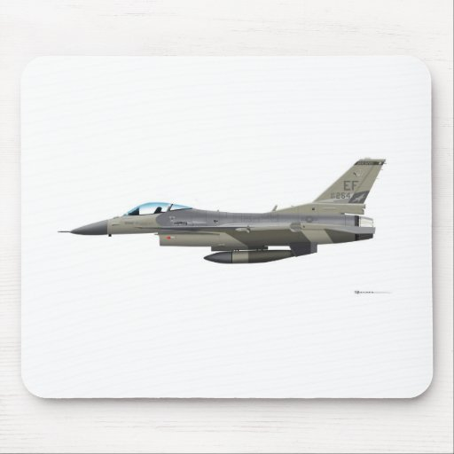 General Dynamics F-16D Falcon TX ANG Subdued 84254 Mouse Pads