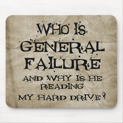 General Failure Mouse Pads