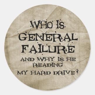 General Failure Round Sticker