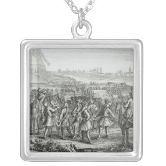 General Fairfax with his forces before Silver Plated Necklace
