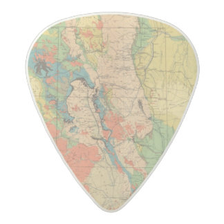 General Geological Map of Colorado Acetal Guitar Pick
