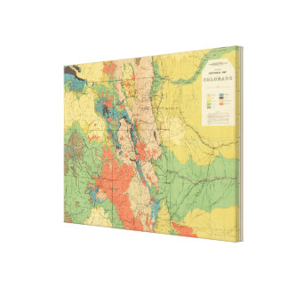 General Geological Map of Colorado Canvas Print