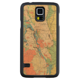 General Geological Map of Colorado Carved Maple Galaxy S5 Case