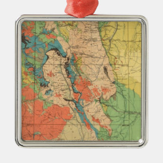 General Geological Map of Colorado Christmas Ornament