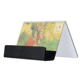 General Geological Map of Colorado Desk Business Card Holder