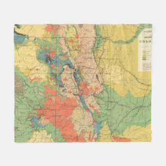 General Geological Map of Colorado Fleece Blanket