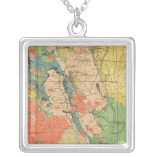 General Geological Map of Colorado Silver Plated Necklace