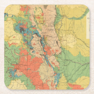 General Geological Map of Colorado Square Paper Coaster