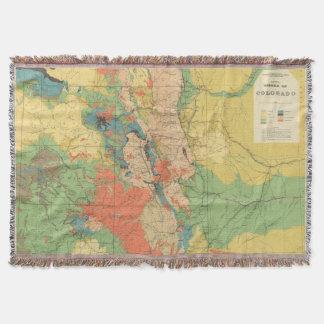 General Geological Map of Colorado Throw Blanket