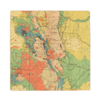 General Geological Map of Colorado Wood Coaster
