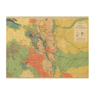 General Geological Map of Colorado Wood Wall Decor