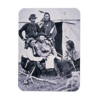General George A. Custer (1839-76) with his Indian Rectangular Photo Magnet