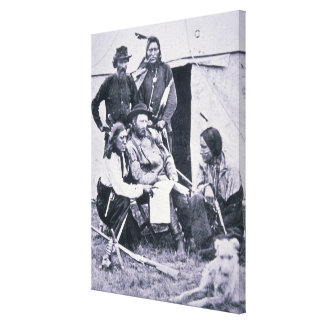 General George A. Custer (1839-76) with his Indian Stretched Canvas Prints
