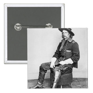 General George A. Custer (b/w photo) 15 Cm Square Badge