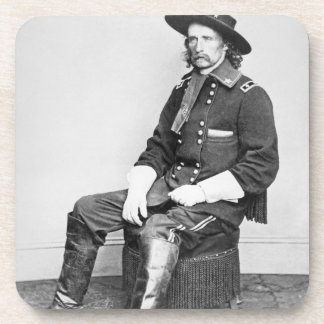General George A. Custer (b/w photo) Drink Coasters