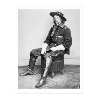 General George A. Custer (b/w photo) Postcard