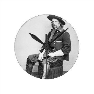 General George A. Custer (b/w photo) Wallclocks