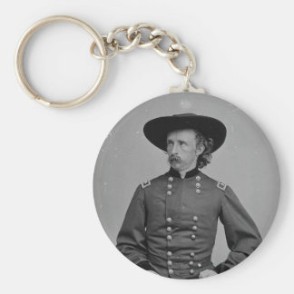 General George Armstrong Custer by Mathew Brady Basic Round Button Key Ring