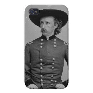 General George Armstrong Custer by Mathew Brady iPhone 4 Covers