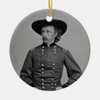 General George Armstrong Custer by Mathew Brady Round Ceramic Decoration