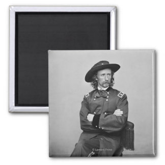 General George Custer 1 Square Magnet